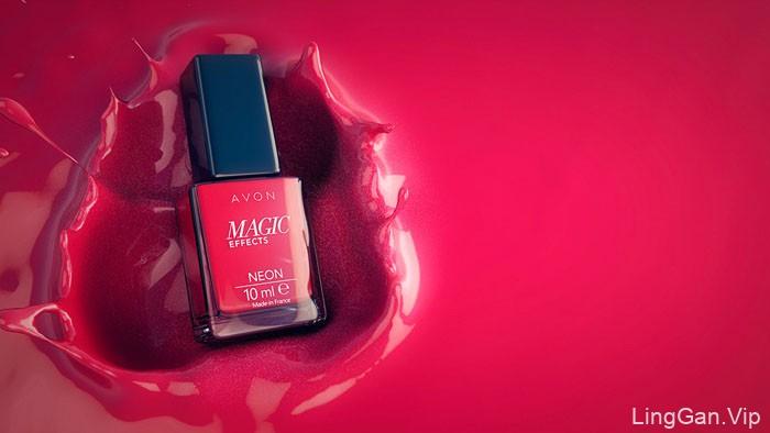国外精致简美的雅芳(Avon)指甲油广告设计作品