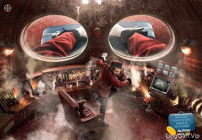 拜耳布洛芬退热止痛药系列平面广告设计