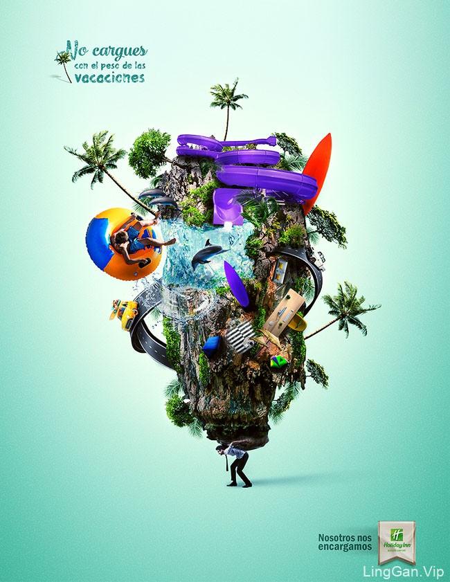 国外Holiday Inn假日酒店创意广告设计