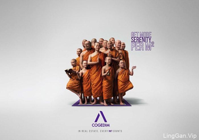 法国Cogedim地产系列人物创意平面广告设计