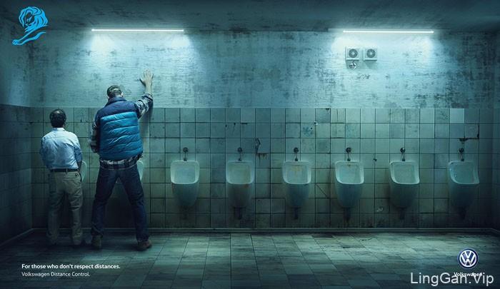 大众汽车车距控制系统创意平面广告设计作品