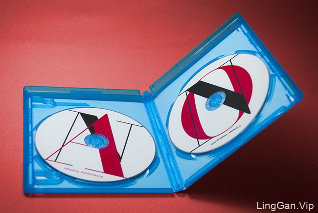 国外红色风格的Nocturnal Animals创意蓝光光盘