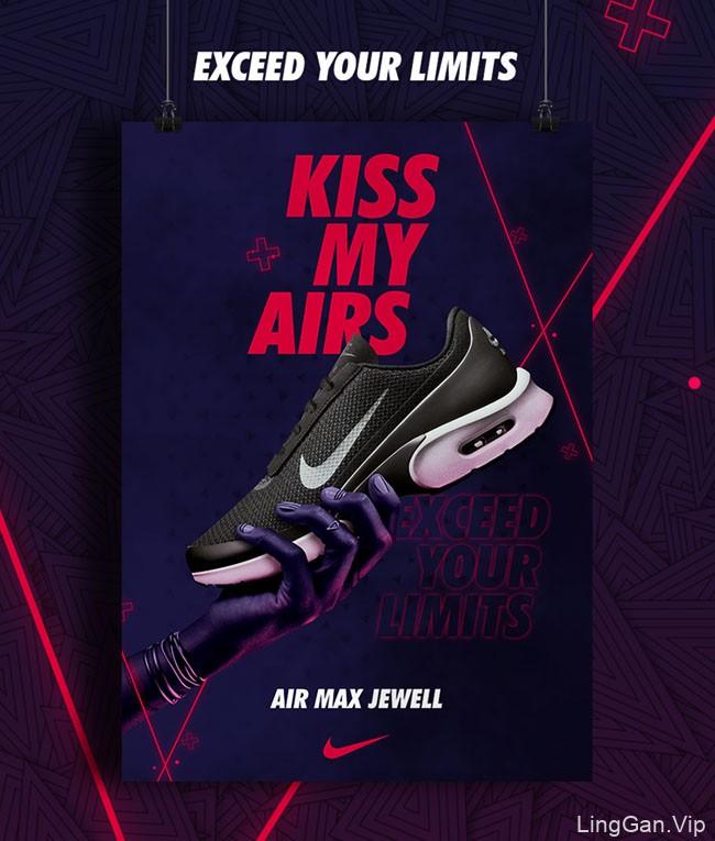 国外耐克Kiss My Airs活动主视觉设计作品