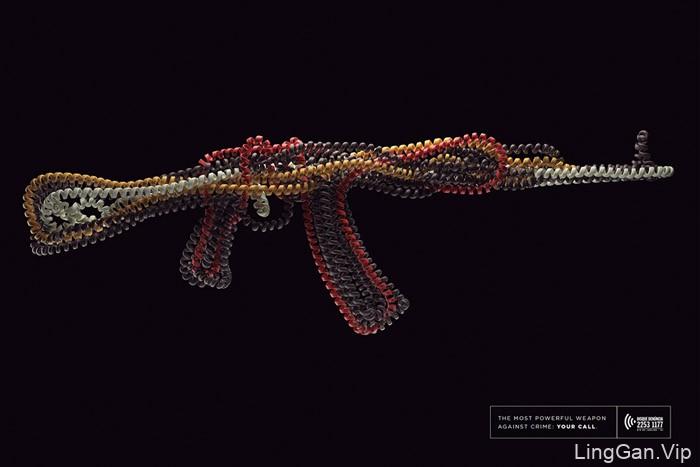 国外DESQUE犯罪举报热线电话系列创意广告设计
