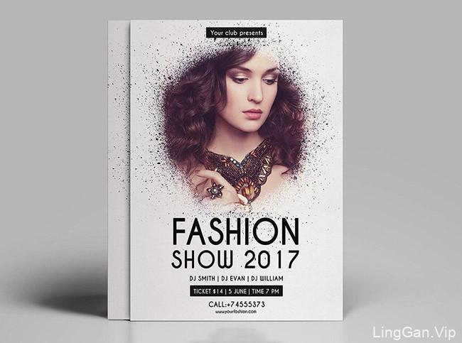 国外唯美时尚的女性品牌宣传单模版设计