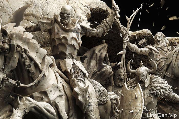 """国外精细的平面艺术设计:""""骨上的战斗"""""""