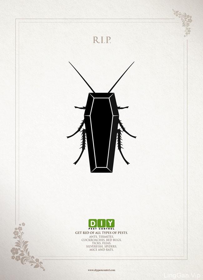 国外DIY PEST杀虫公司系列创意广告设计作品