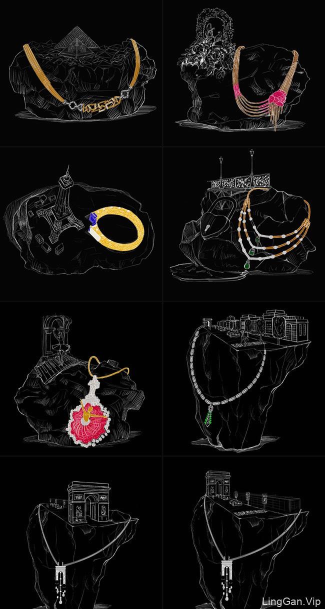 精致精美的ZOYA珠宝品牌创意设计