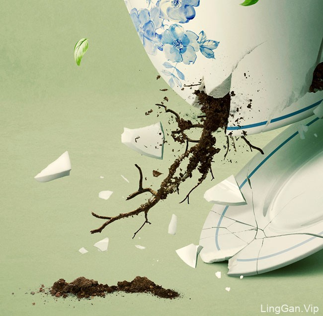 Green Tea茶品牌数码合成设计