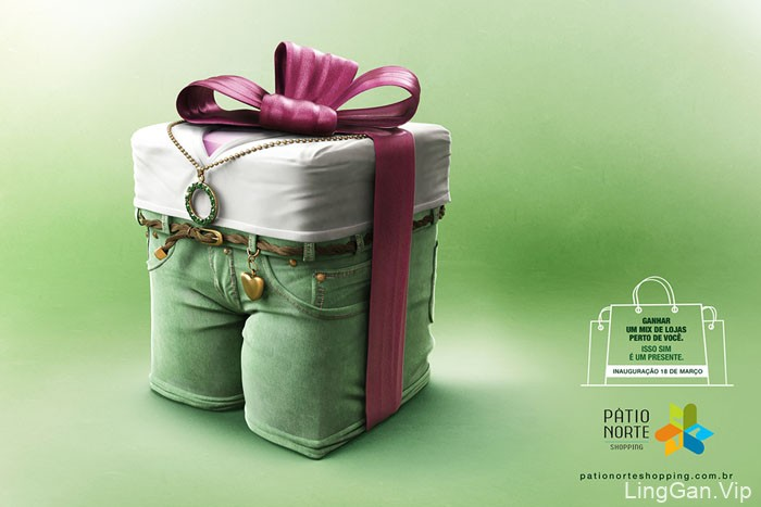 国外Patio Norte购物中心创意平面广告作品