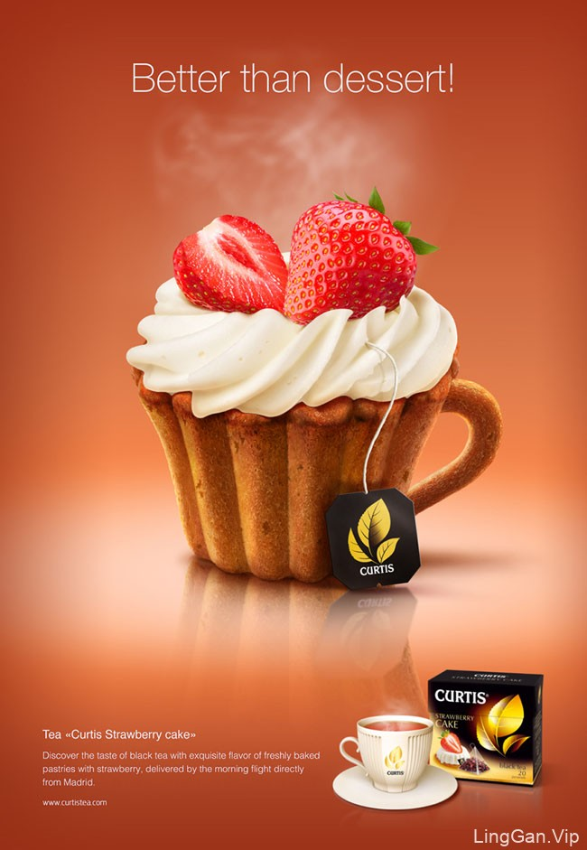 国外Curtis茶系列创意广告欣赏NO.2