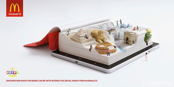 """麦当劳""""快乐的读者""""主题平面广告设计"""