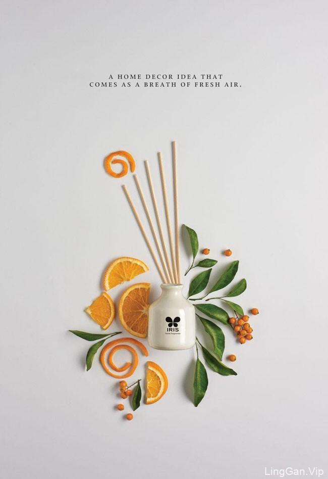 Iris香水系列创意平面广告设计作品