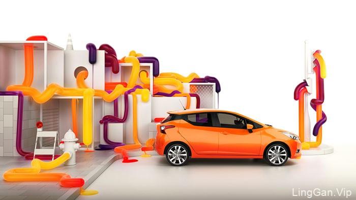 精细漂亮的Nissan汽车数码艺术设计