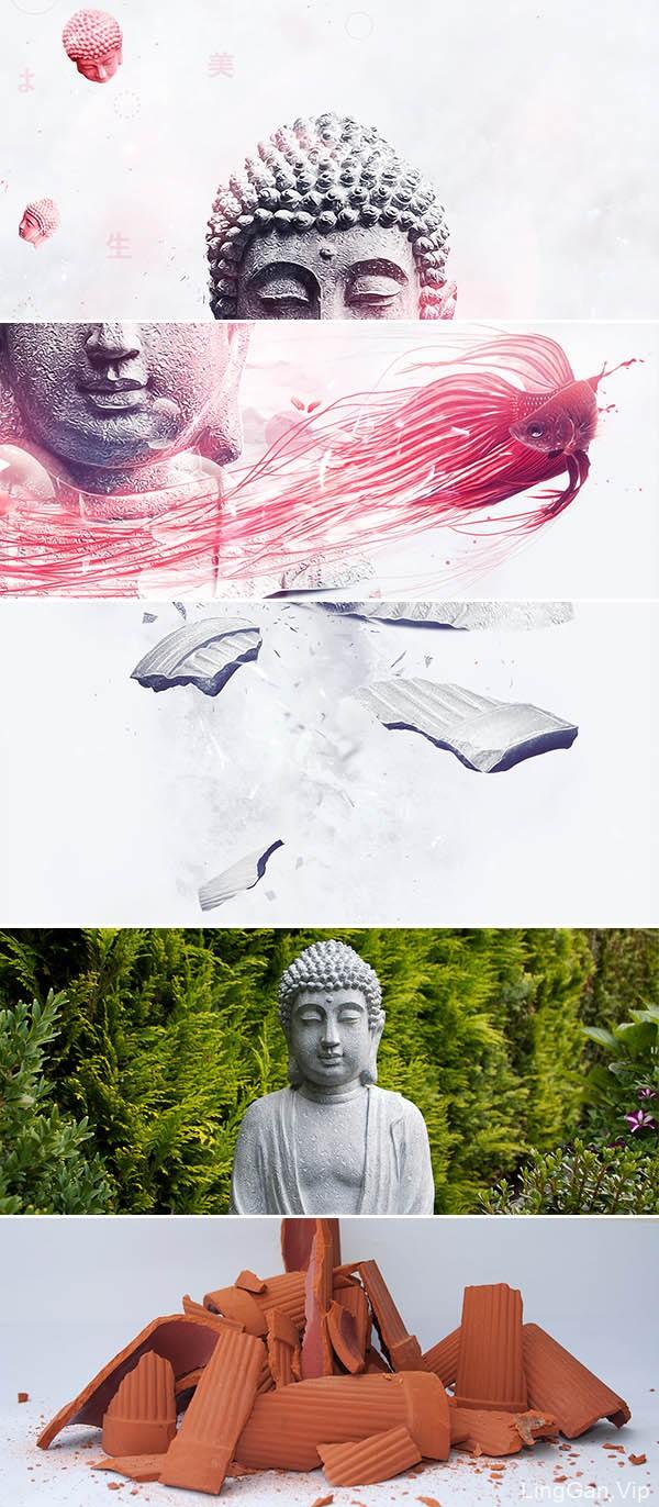 荷兰Kevin佛像主题数码设计