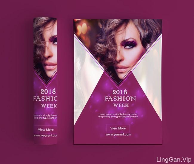 女性品牌的时尚传单模版设计