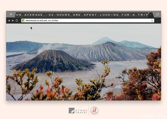 英国Ethos Travel旅行系列宣传平面广告设计