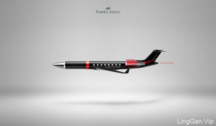 辉柏嘉(Faber-castell)笔系类创意广告设计