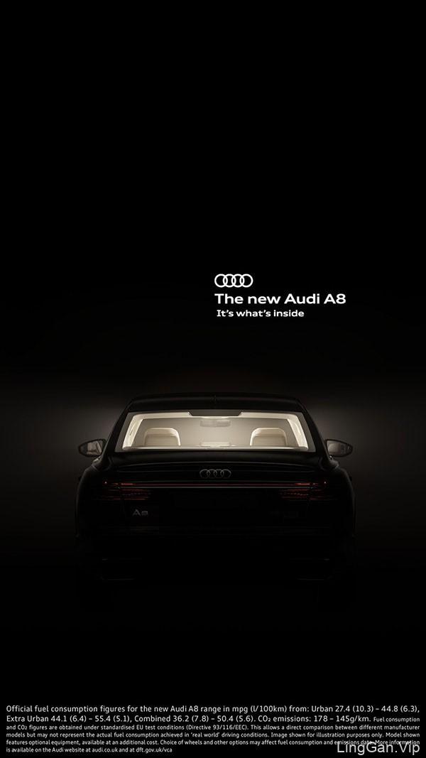 英国INK工作室奥迪A8系列平面广告设计