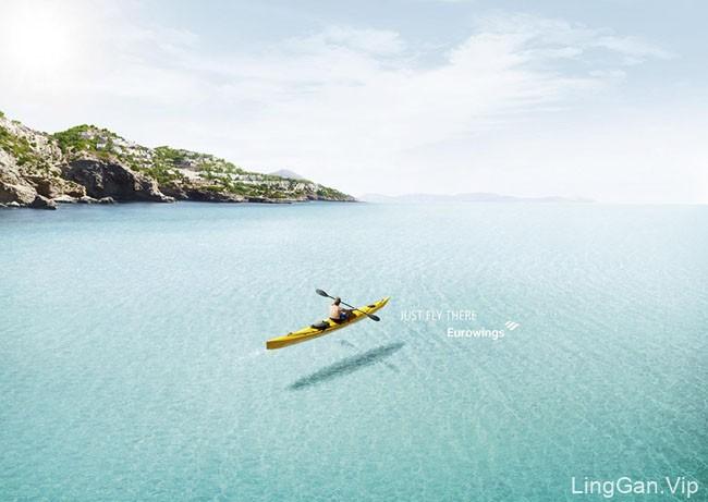Eurowings航空系列平面创意广告设计