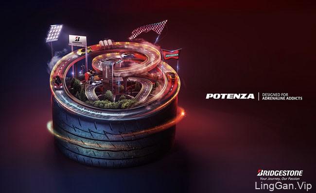 国外POTENZA轮胎宣传主视觉设计