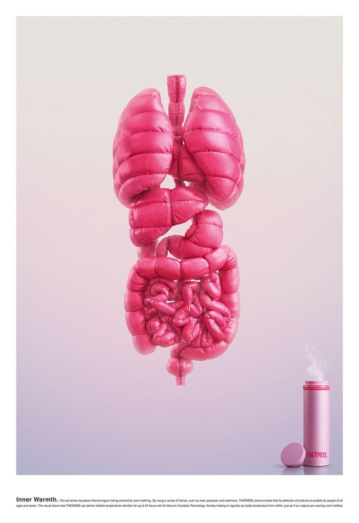 THERMOS保温杯创意广告设计