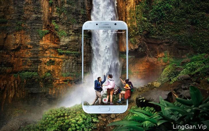 印尼Apix10 Studio工作室三星手机平面广告设计