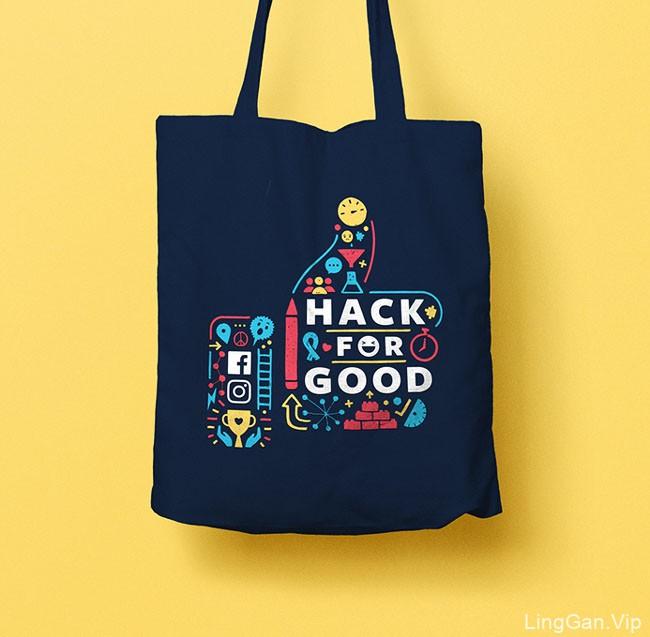 脸谱网Hack for Good视觉识别设计
