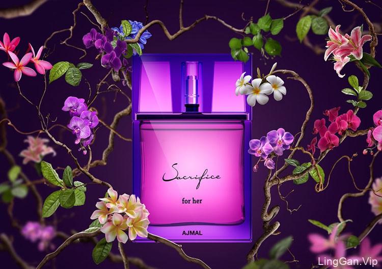 AJMAL女性香水唯美设计