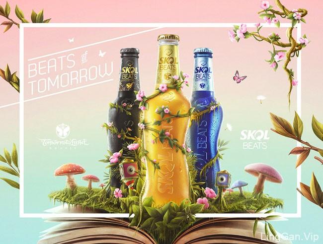 SKOL世傲啤酒活动主视觉设计