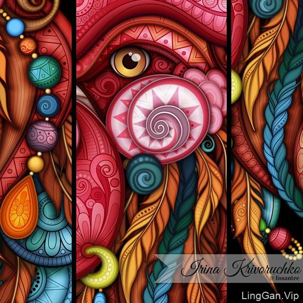 乌克兰Irina Krivoruchko靓丽的图案设计