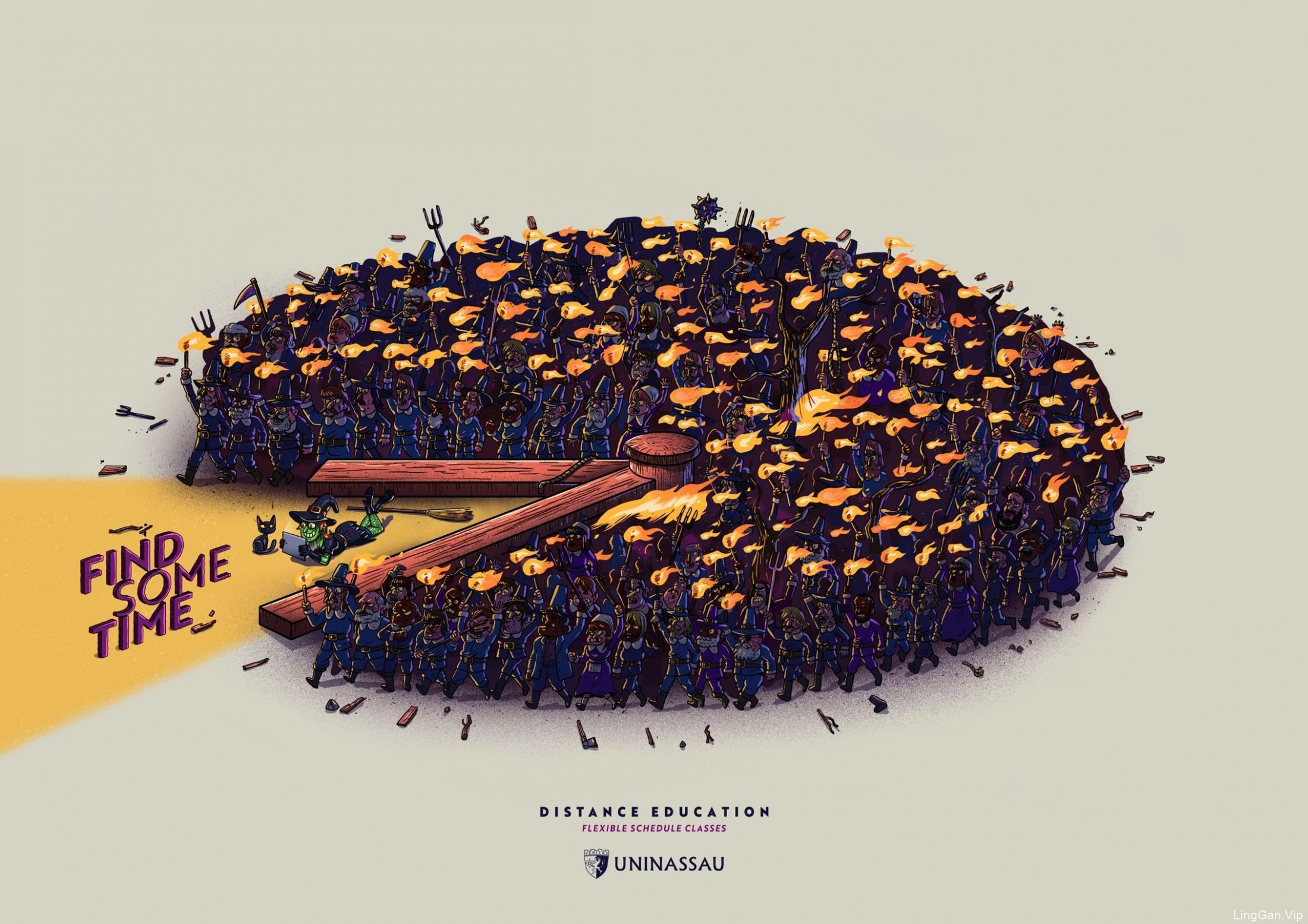 巴西UNINASSAU平面广告设计