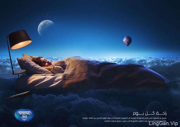 Spring Air弹簧床垫系列广告设计