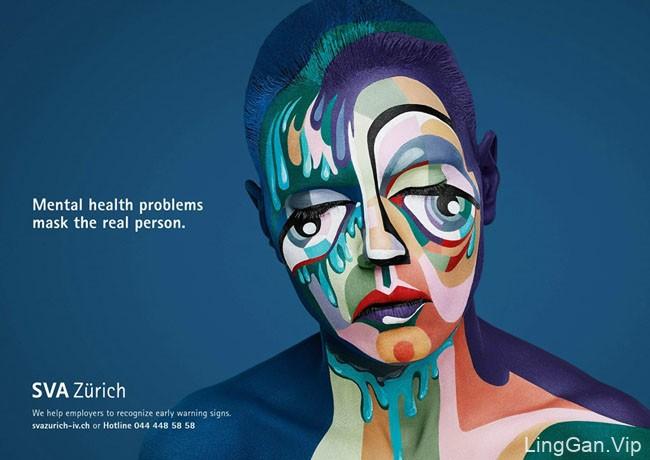 SVG心里健康辅导与预警机构创意平面广告