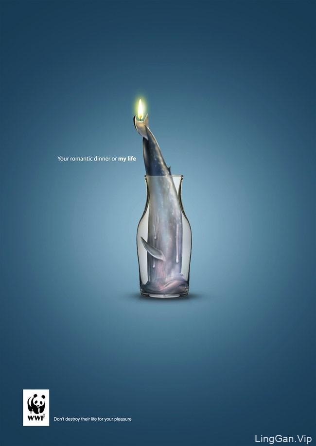 埃及WWF保护动物公益广告设计