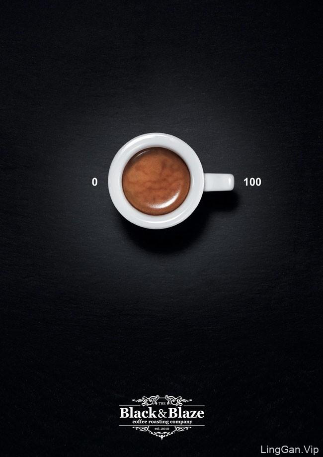 简单明了的Black&Blaze咖啡创意广告