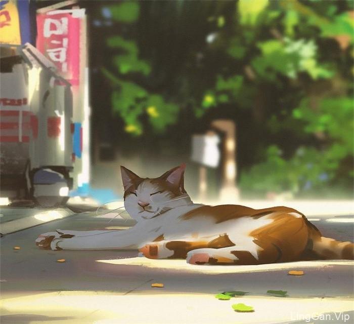 12幅插画师snatti89光影插图