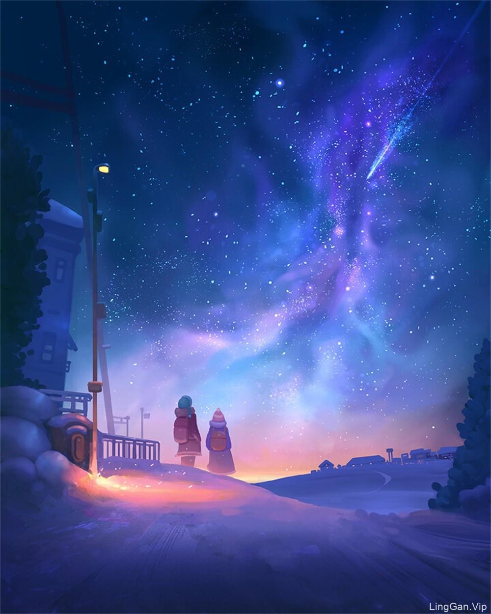 10款犹如童话故事一般的场景插画