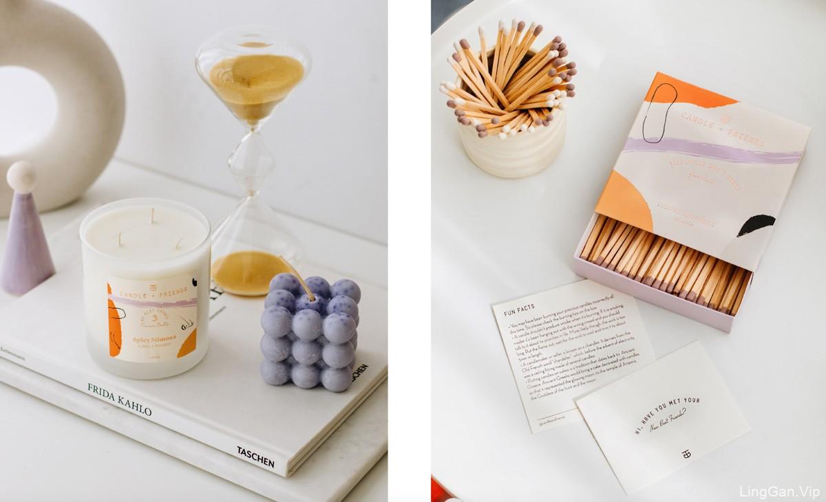 抽象图案!CANDLE + FRIENDS香薰蜡烛包装设计